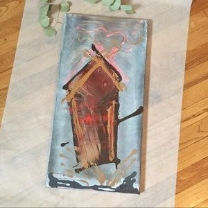 Fun Original Painting of Gingerbread House